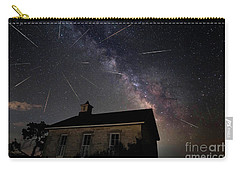Carry-all Pouch featuring the photograph The Perseid Meteor Shower At Lower Fox Creek School  by Keith Kapple
