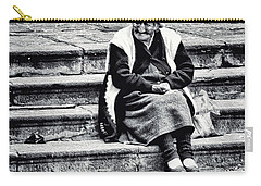 The Peruvian Lady Black And White Carry-all Pouch