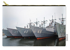 Carry-all Pouch featuring the photograph The Philadelphia Navy Yard by Bill Cannon