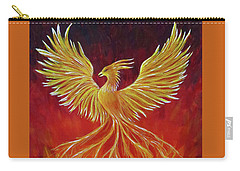 Carry-all Pouch featuring the painting The Phoenix by Teresa Wing