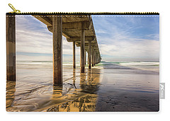 The Pier And Its Shadow Carry-all Pouch by Joseph S Giacalone