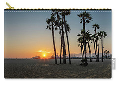 The Pier At Sunset Carry-all Pouch