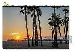 The Pier At Sunset - Square Carry-all Pouch