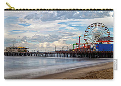 The Pier On A Cloudy Day Carry-all Pouch