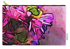 The Pink And Purple Flower By The Pale Pink Wall Carry-all Pouch