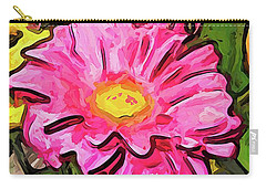 The Pink And Yellow Flowers With The Big Green Leaves Carry-all Pouch