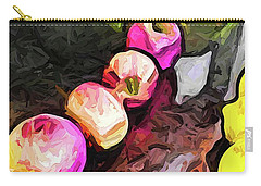 The Pink Apples In A Curve With The Yellow Lemons Carry-all Pouch