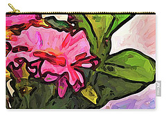 The Pink Flowers On The Left With The Green Leaves Carry-all Pouch