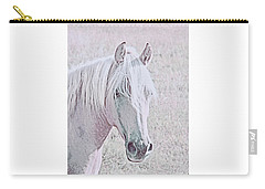 Carry-all Pouch featuring the photograph The Pink Horse by Jennie Marie Schell