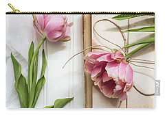 Carry-all Pouch featuring the photograph The Pink Tulips by Kim Hojnacki