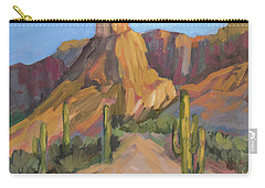 Carry-all Pouch featuring the painting The Pinnacle At Goldfield Mountains by Diane McClary