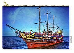Carry-all Pouch featuring the photograph The Pirate Ship Ustka In Sopot  by Carol Japp