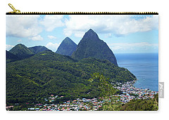 Carry-all Pouch featuring the photograph The Pitons, St. Lucia by Kurt Van Wagner