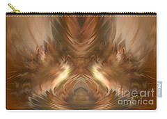 Carry-all Pouch featuring the digital art The Plumed Holy Grail By Rgiada by Giada Rossi