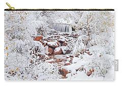 The Poetic Beauty Of Freshly Fallen Snow  Carry-all Pouch by Bijan Pirnia