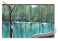 Carry-all Pouch featuring the painting The Pond by Pat Purdy