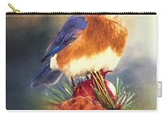 The Pondering Bluebird Carry-all Pouch