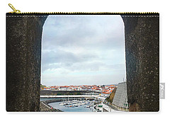 The Port Of Angra Do Heroismo From A Window In Forte De Sao Sebastiao Carry-all Pouch