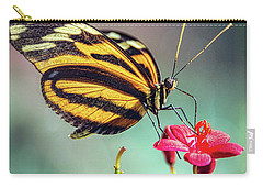Carry-all Pouch featuring the photograph The Postman Longwing  by Saija Lehtonen