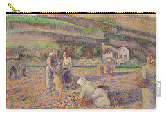 The Potato Harvest Carry-all Pouch by Camille Pissarro