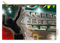 Carry-all Pouch featuring the digital art The Power Of Volleyball by Darren Cannell