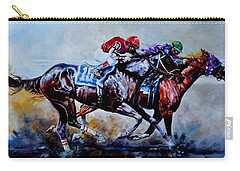 Carry-all Pouch featuring the painting The Preakness Stakes by Hanne Lore Koehler