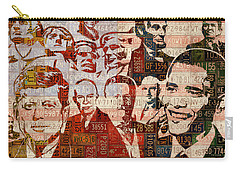 The Presidents Past Recycled Vintage License Plate Art Collage Carry-all Pouch by Design Turnpike
