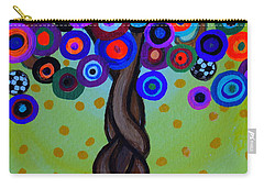 Carry-all Pouch featuring the painting The Prolific Tree by Pristine Cartera Turkus