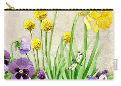 The Promise Of Spring - Dragonfly Carry-all Pouch by Audrey Jeanne Roberts