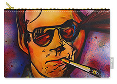 The Psycho-delic Suicide Of The Tambourine Man Carry-all Pouch by Eric Dee