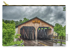 Carry-all Pouch featuring the photograph The Pulp Mill Bridge by Guy Whiteley