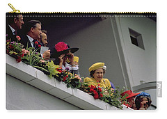 The Queen At Derby Day 1988 Carry-all Pouch