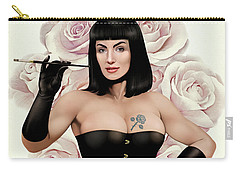 The Queen Of Vintage Roses Carry-all Pouch