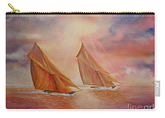 Carry-all Pouch featuring the painting The Race by Beatrice Cloake
