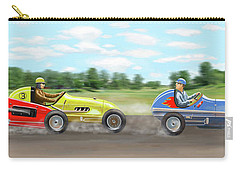 Carry-all Pouch featuring the digital art The Racers by Gary Giacomelli