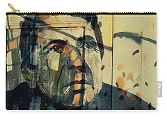 Carry-all Pouch featuring the painting The Rain Falls Down On Last Years Man  by Paul Lovering