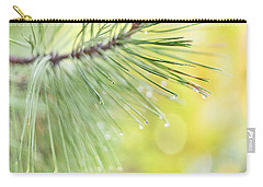 Carry-all Pouch featuring the photograph The Rain The Park And Other Things by John Poon