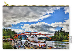 The Rainbow Bridge - Laconner Washington Carry-all Pouch by David Patterson