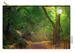 The Ramble In Central Park Carry-all Pouch by Mark Andrew Thomas