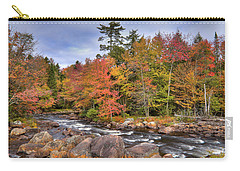 Carry-all Pouch featuring the photograph The Rapids On The Moose River by David Patterson
