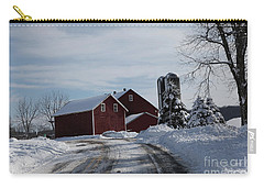The Red Barn In The Snow Carry-all Pouch