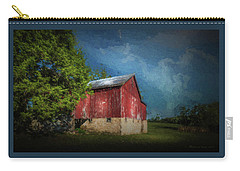 Carry-all Pouch featuring the photograph The Red Barn by Marvin Spates