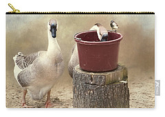 Carry-all Pouch featuring the photograph The Red Bucket by Robin-Lee Vieira
