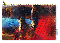 Carry-all Pouch featuring the photograph The Red Chair by Claire Bull