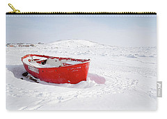 The Red Fishing Boat Carry-all Pouch by Nick Mares