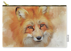 Carry-all Pouch featuring the digital art The Red Fox by Brian Tarr