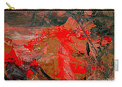 Carry-all Pouch featuring the painting The Red Garden by Nancy Kane Chapman