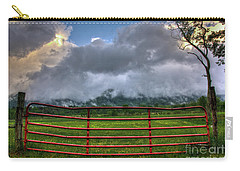Carry-all Pouch featuring the photograph The Red Gate by Douglas Stucky