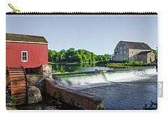 The Red Mill  On The Raritan River - Clinton New Jersey  Carry-all Pouch by Bill Cannon