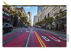 Carry-all Pouch featuring the photograph The Red Path by Darcy Michaelchuk